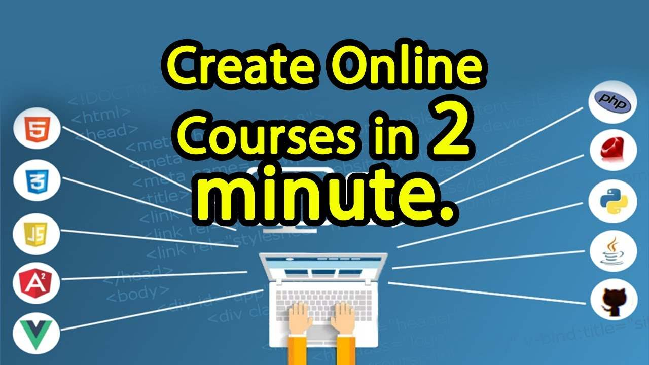 How to create online courses in English